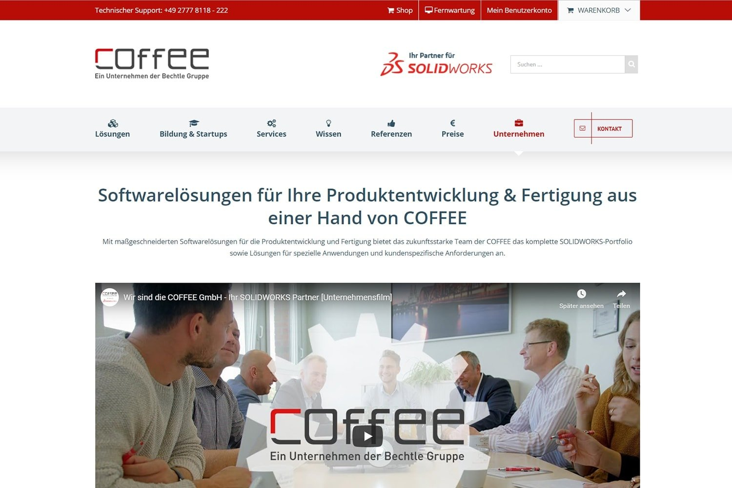 Video Integration auf der Homepage